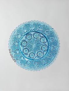 Cup plate  Medium - Pressed glass