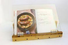Folding Wood Cookbook Display, Cookbook Holder, Cookbook Stand, Gifts For Cooks…