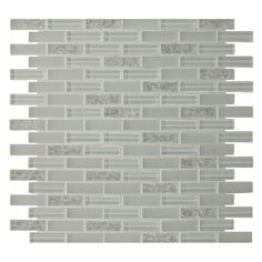 Shop GBI Tile & Stone Inc. 12-In x 12-In Gemstone White Glass Mosaic Subway Wall Tile (Actuals 11.97-in x 11.97-in) at Lowes.com