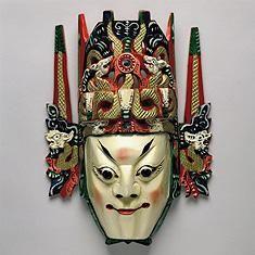 chinese mask - Google Search Chinese Opera Mask, Chinese Mask, Masks Art, China Art, African Masks, Beautiful Mask, Green Man, Art Club, Tribal Art