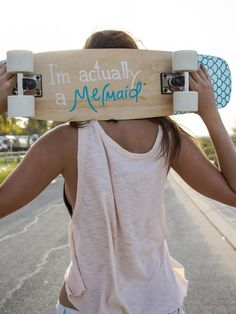 Soul Slider Skateboard Deck – Mermaid – by Ames Collective ~$150 Wake up, make a smoothie, grab your board and check the waves… ahhhh summer bliss! Soul Deck boards are individually handcrafted and painted from scratch with LOVE. Which one represents your style?