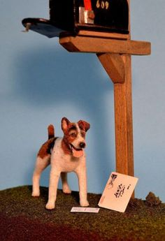 OOAK-1-12-dollhouse-miniature-fox-terrier-realistic-IGMA-Fellow-Linda-Master
