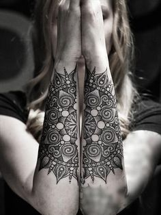 Connecting Forearm Mandala Tattoos at MyBodiArt