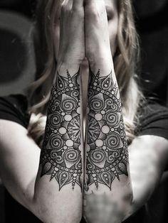 Connecting Forearm Mandala Tattoos at MyBodiArt
