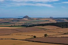 East Lothian countryside looking to North Berwick Law and the Bass Rock