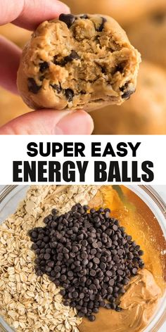 Oatmeal Energy Balls Recipe, Oatmeal Energy Bites, Vegan Energy Balls, Energy Bars, Healthy Energy Balls Recipe, Energy Cookie Recipe, No Bake Cookie Balls Recipe, Healthy Energy Bites, Healthy Protein Balls