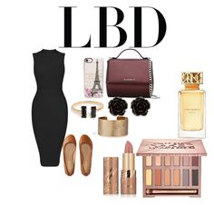 """""""Little Black Dress"""" by rowanstella on Polyvore featuring Aéropostale, Givenchy, Casetify, Erica Lyons, Panacea, tarte, Urban Decay and Tory Burch"""