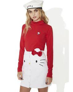 Hello Kitty Denim Skirt