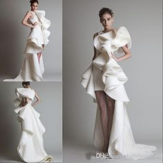 Wedding Evening Gown, Wedding Dress Organza, Tea Length Wedding Dress, Tea Length Dresses, Evening Dresses, Wedding Gowns, Bhldn Wedding, Backless Wedding, White Pageant Dresses