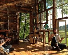 Artist Couple Builds a Cabin Out of Recycled Windows for Just $500