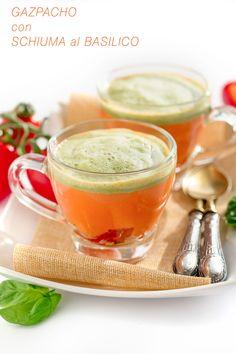 Gazpacho recipe + fresh basil foam vegan glutenfree   ricetta gazpacho con schiuma al basilico #vegan