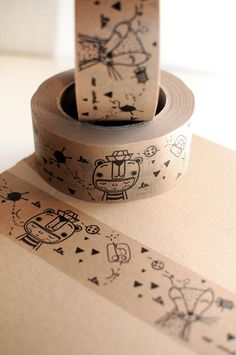 duct tape so and so di herrpfeffer su Etsy Food Packaging Design, Print Packaging, Gift Wraping, Candle Labels, Cardboard Packaging, Doodle Designs, Party In A Box, Duct Tape, Washi Tape