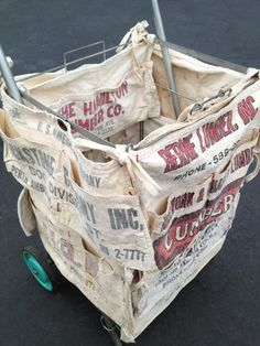 e3f0f7702c0 love this shopping cart with nail aprons tied on. by justsomethingimade  Aprons Vintage