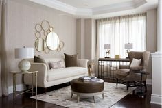 Living rooms with brown, white and gold accents.-Home and Garden Design Ideas