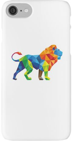 Lovely Colourful Animated Vector Lion For Animals lovers • Also buy this artwork on phone cases, apparel, kids clothes, and more.