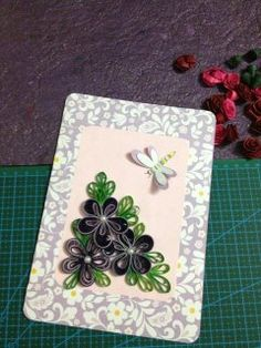 Just look at this lovely arrangement by beginning quiller, Ruchita Kadao of the Indian Quilling Guild!