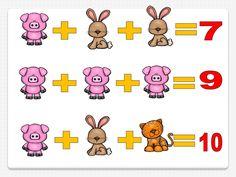 Razonamiento lógico en primaria  Averigua el valor de cada una de las imágenes de animales Numbers Preschool, Brain Games, Math Class, Classroom, Coding, Fictional Characters, Puzzles, Mary, Games