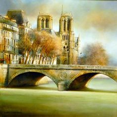 Marc Chapaud 1941 | French landscape painter | Tutt'Art@ French School, Galerie D'art, Painting Still Life, French Artists, Notre Dame, Images, Sculptures, Photos, France