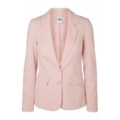 Vero Moda Long Sleeved Jersey Blazer and other apparel, accessories and trends. Browse and shop related looks. Faux Leather Jackets, Blazer Jacket, Long Sleeve, Project 333, Shopping, Outerwear Jackets, Blazers, Design, Trends