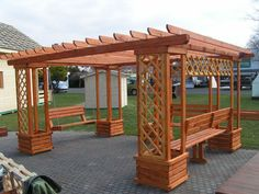 Backyard Pavilion, Pergola Swing, Outdoor Pergola, Backyard Pergola, Pergola Shade, Pergola Plans, Backyard Landscaping, Building A Pergola, Pergola Designs