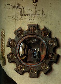 Detail from the Arnolfini Portrait - Jan van Eyck