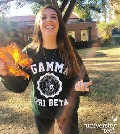 finals, leaf us alone    Gamma Phi Beta   Made by University Tees   universitytees.com