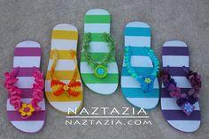 Learn How to Crochet - Flip Flops Sandals Shoes with Ruffle Yarn, Pom Pom Yarn