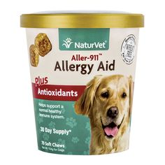 NaturVet Aller-911 Allergy Aid Plus Antioxidants Soft Chews, 5.04 oz, 70 Count -- Continue to the product at the image link. (This is an affiliate link and I receive a commission for the sales)