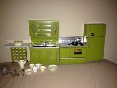 Marx little hostess Kitchen Appliances in AVACADO GREEN. I have these, they are so Adorable!