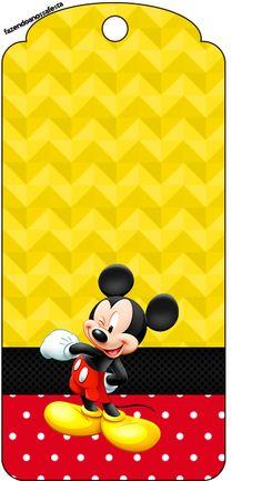 Tag Agradecimento Mickey:
