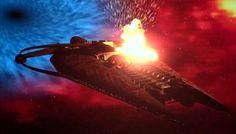 alienspaceshipcentral: Narn Battleship under attack Best Sci Fi Series, Heavy Cruiser, Babylon 5, Battleship, Far Away, Outlander, Star Trek, Spaceship, Science Fiction