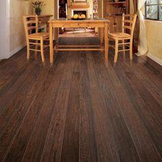 Dining Room Cork Flooring Looks Like Hardwood