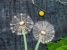 Silk Ribbon Embroidery, Embroidery Art, Embroidery Stitches, Embroidery Patterns, Creative Textiles, Fabric Journals, Landscape Art Quilts, Sewing Art, Fabric Art