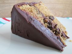 Brown Sugar Chocolate Chip Cake with Chocolate Ganache