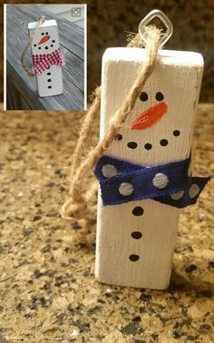 Nailed it! - Nailed it! Christmas Crafts To Make, Dollar Tree Christmas, Christmas Signs Wood, Christmas Ornament Crafts, Dollar Tree Crafts, Christmas Snowman, Christmas Projects, Handmade Christmas, Holiday Crafts