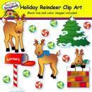 Holiday Reindeer Clip Art product from TeacherScrapbook on TeachersNotebook.com