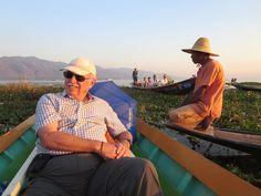 David Stanley did enjoy his canoe cruise around Inle Lake, Myanmar (Burma). David Stanley, Inle Lake, Canoe, Panama Hat, Cruise, Boat, Fashion, Moda, Cruises