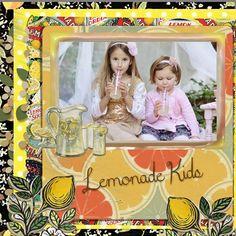 Lemonade Kids by sanra. Kit: Lemonade Days by Karenheckyeah Digital Designs http://scrapbird.com/designers-c-73/k-m-c-73_516/karenheckyeah-digital-designs-c-73_516_565/lemonade-days-p-17972.html