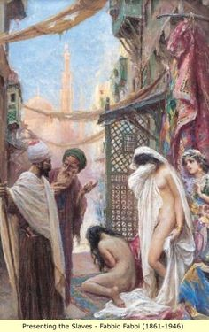 Arab and Berber (Moor) Paintings: Slaves and the Harem (3)