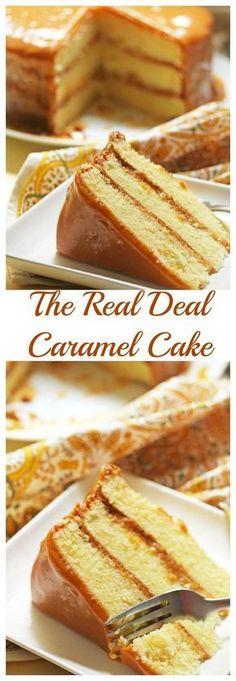Real Deal Caramel Cake Grandbaby Cakes is part of Caramel cake recipe - Cupcake Recipes, Baking Recipes, Cupcake Cakes, Dessert Recipes, Cake Fondant, Muffin Cupcake, Fondant Toppers, Sweets Cake, Baking Ideas