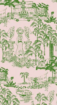 South Beach toile - Studio Printworks
