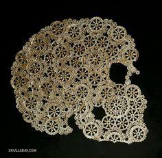Skull Doily  so cool!!