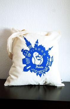 Fairer Jutebeutel mit der Öcher Printe im Herzen von Aachen. Textil GOTS zertifiziert, fair gehandelt, Farben auf Wasserbasis, Kleinauflage im Siebdruck, handmade