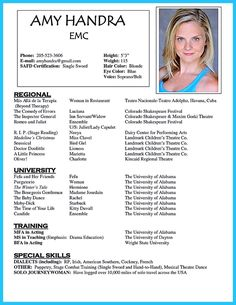 This Image Presents The Nice Acting Resume Template Do You Know
