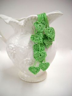 Crocheted Hearts - Wedding Decor - by Stitchknit. $10.00, via Etsy.