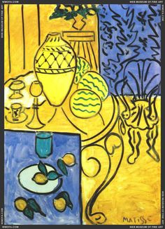 Matisse, Interior in Yellow and Blue 1946