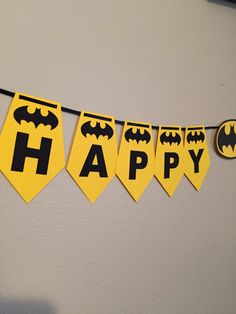 Batman Birthday Banner by EventsbyCora on Etsy