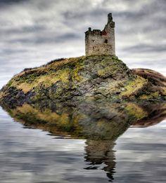 Greenan castle on the Ayrshire coast of Scotland.