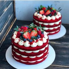 Baking Recipes, Cake Recipes, Dessert Recipes, Bolo Red Velvet, Red Velvet Cakes, Blue Velvet, Bolos Naked Cake, Red Cake, Red Velvet Birthday Cake