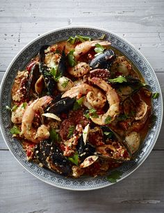Chorizo and Seafood Paella